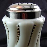 "SALE Victorian Glass Sugar Shaker, muffineer, Gillinder ""Beaded Twist"""