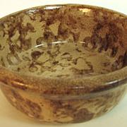 SOLD Sponge ware, Yellow Ware pottery bowl, yelloware
