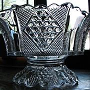 SOLD Eapg Fostoria Carmen pattern Victorian glass compote bowl