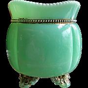 Georgia Gem, Tarentum glass, Green custard spooner