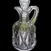 20th Twentieth Century pattern cruet, Co-operative Flint Glass, Ward's New Era