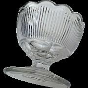 """Fine Rib"" flint master salt, New England Glass, ""Reeded"""