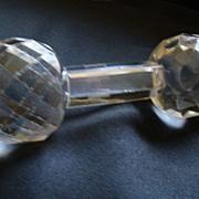 REDUCED Vintage BarBell Shaped Glass Knife Rest