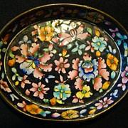 REDUCED Vintage Floral Cloisonne Oval Trinket Dish