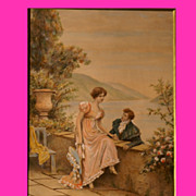 REDUCED Reduced!  Superb painting by French 1900 Master Lionel Péraux, romantic scene