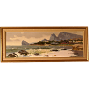 SOLD Reduced!  Superb Russian impressionist Crimean Seashore painting by Stepan Yarovoi, 1977