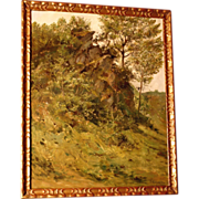 SOLD 1 WEEK REDUCED! Superb 1878 Impressionistic Masterpiece painting by highly listed Europea