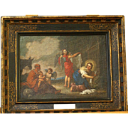 """SOLD Superb 17thC painting by S Bourdon ( 1616-1671). """"The flight into Egypt"""". Museu"""