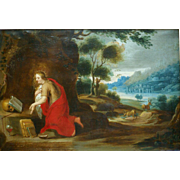 "SOLD Superb oil on copper 17thC Flemish "" Madonna in landscape"". H Van Balen ( 1575-"