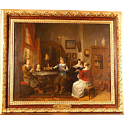 SOLD Superb Museum quality painting by Dutch-American ( Boston) Master JC De Vries ( 1804-1873