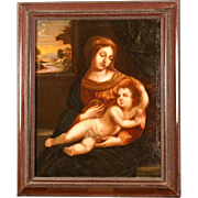 SOLD Great Italian Master painting 17thC, Madonna with Holy Child, superb quality!