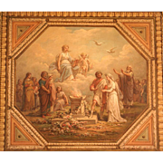 SOLD Superb important 1850 French classical Romantic painting. Top museum quality and highly l