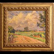 SALE PENDING Superb impressionist European Master painting by Danish Master Erik Jensen ( 1883