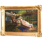 REDUCED Superb 1900 impressionist painting by Dutch Master F Helfferich ( 1871-1941). ...