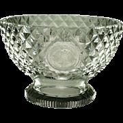SALE Circa 1800 Cut Glass Bowl Compote English Georgian Era