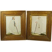SALE PENDING Antique Georgian Pin Prick Pinprickt Watercolor Pictures 1780 Folk Art