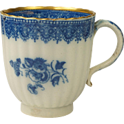 Antique Circa 1780 English Blue and White Transferware Pearlware Cup Circa Georgian AF