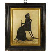 SOLD RESERVED LWM Antique Georgian Cut Silhouette Old Lady English Circa 1820