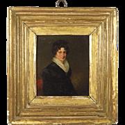 Georgian Miniature Portrait Painting English School Circa 1815