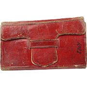 Antique Georgian Miniature Almanac Book John Goldsmith Red Leather Circa 1822