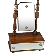 SALE Victorian Dolls Dressing Table Swing Mirror Circa 1870