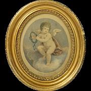 SOLD 18th Century Miniature Bartolozzi Stipple Engraving Merit 1795 Georgian