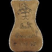 Georgian Silk Pin Cushion English Souvenir Dated 1782