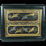 Circa 1800 Japanese Maki-e Lacquer Panels Edo Period