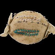 "Circa 1830 Georgian Pin Cushion Rare Individual 1"" Candy Shape"