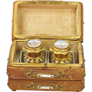 19th Century French Scent Casket Perfume Caddy Grand Tour Views of Paris Circa 1850