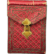 SALE Georgian Purse Silk Pocketbook Circa 1790 With Provenance Rare