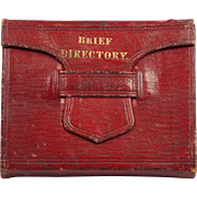 Antique Miniature Christian Book Red Leather A Brief Directory For Evangelical Ministers Perfe