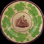 Georgian Plate Adam Buck Design English Circa 1815