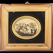 Georgian Cut Paper Picture Silhouette of Dog Circa 1830