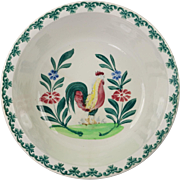 SALE Antique English Spongeware Bowl Spatterware Circa 1910
