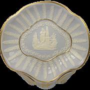 SALE Georgian Ridgway Porcelain Sprigged Dish Circa 1810
