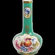 SALE PENDING Circa 1820 Coalport English Porcelain Bud Vase Georgian Era