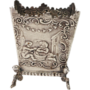 Antique Miniature Dutch Silver .930 Repousse Jardinière Fully Hallmarked Circa 1800s