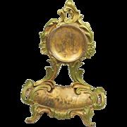 Antique French Art Nouveau Watch Holder Porte Montre Circa 1890