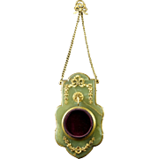 Antique French Gilt Bronze Ormolu Onyx Pocket Watch Holder Circa 1850