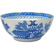 18th Century Blue And White Transferware Porcelain Bowl English Circa 1795