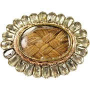 Georgian Foil Paste Shoe Buckle Later Sentimental Brooch Circa 1780