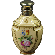 Antique Miniature Hand Painted Porcelain Scent Bottle Perfume Bottle Circa 1880