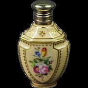 Antique Miniature Hand Painted Porcelain Scent Bottle Perfume Bottle Circa 1880