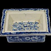 SALE Antique Georgian Blue and White Transferware Soap Dish Pearlware Circa 1820