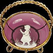 Antique French Amethyst Glass Trinket Dish Napoleon III