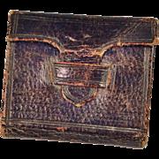 "Antique Miniature Book Circa 1845 Biblical Purple Leather 1"" High FF Doll Size"