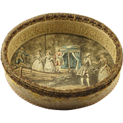 SALE Delicious 19th Century French Open Fabric Candy Box