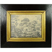 Antique Georgian Pencil Drawing Circa 1820 English by Miss Jane Ogilvy After Constable