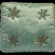 Georgian Silk Satin Pincushion Original Handmade Pins Circa 1820